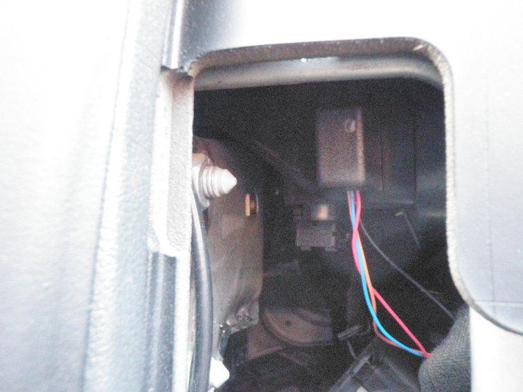 Установка датчика экстренного торможения - место установки