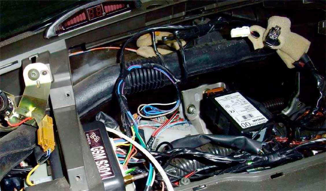 GSM сигнализация S301 установка на автомобиль Nissan X-Trail T30 (2005 г.)